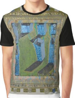 Orchard Of Frog Boxes - Framed Abstract Graphic T-Shirt