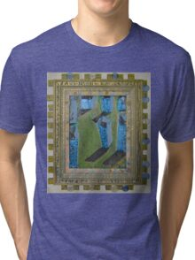Orchard Of Frog Boxes - Framed Abstract Tri-blend T-Shirt