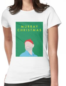 Murray Christmas Card with Bill Murray in The Life Aquatic with Steve Zissou Womens Fitted T-Shirt