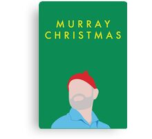 Murray Christmas Card with Bill Murray in The Life Aquatic with Steve Zissou Canvas Print