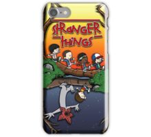 Calvin and Hobbes in the Upside Down iPhone Case/Skin