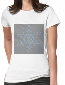 Airy Blue Sharkskin Snowflake Womens Fitted T-Shirt