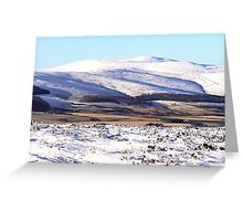 Snow on The Buck of Cabrach  Greeting Card