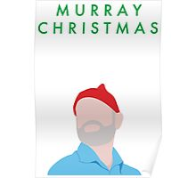 Murray Christmas Card with Bill Murray Illustration Poster