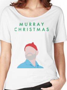 Murray Christmas Card with Bill Murray Illustration Women's Relaxed Fit T-Shirt