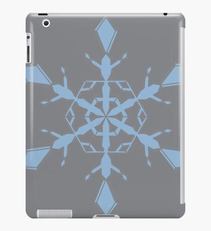 Sharkskin Airy Blue Snowflake iPad Case/Skin