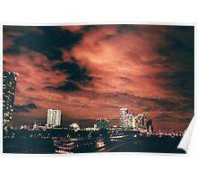 Miami City Lights Poster