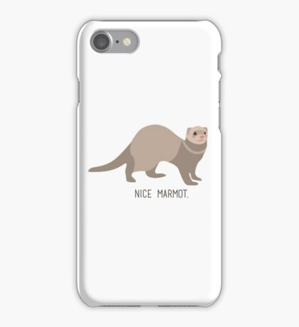 Nice Marmot iPhone Case/Skin