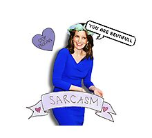 Tina Fey in blue Photographic Print