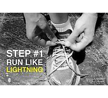 Run like lightning Photographic Print