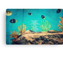 Love Wishes Motivational Quote With Underwater Ocean Scene Canvas Print