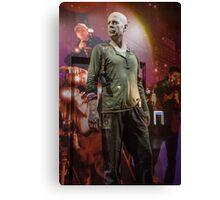 Czech Republic. Prague. Bruce Willis in the Shop Window for Sale. Canvas Print