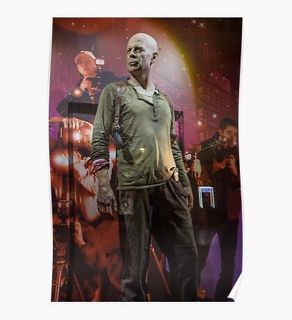 Czech Republic. Prague. Bruce Willis in the Shop Window for Sale. Poster