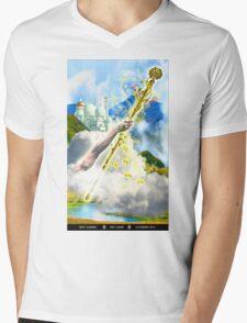 Ace of Wands Mens V-Neck T-Shirt