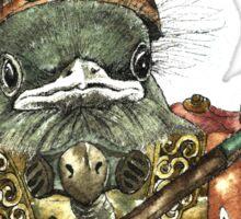 Steampunk Bird Sky Patrol Sticker