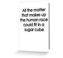 Sugar Cube Greeting Card