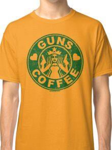 I Love Guns and Coffee! Not the Starbucks logo. Classic T-Shirt