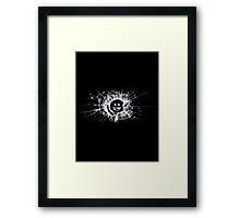 Black Mirror - Glass Smiley - White Framed Print
