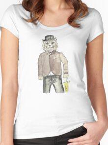 Gentleman Cat Women's Fitted Scoop T-Shirt