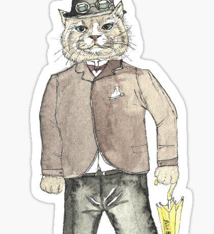 Gentleman Cat Sticker