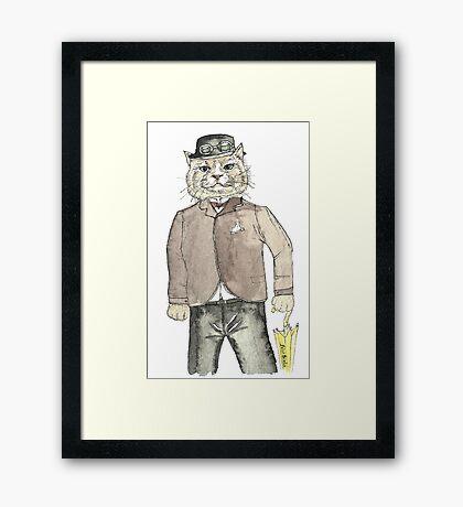 Gentleman Cat Framed Print