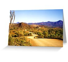Winding through the Flinders Ranges Greeting Card