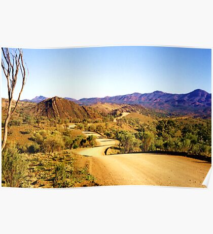 Winding through the Flinders Ranges Poster