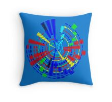 Colorful Disc 11516 Throw Pillow