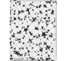 Black White Abstract Pattern, entanglement iPad Case/Skin