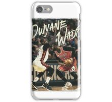 Dwyane Wade Miami to Chicago Basketball Artwork iPhone Case/Skin