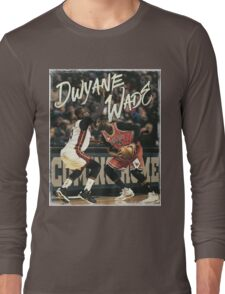 Dwyane Wade Miami to Chicago Basketball Artwork Long Sleeve T-Shirt