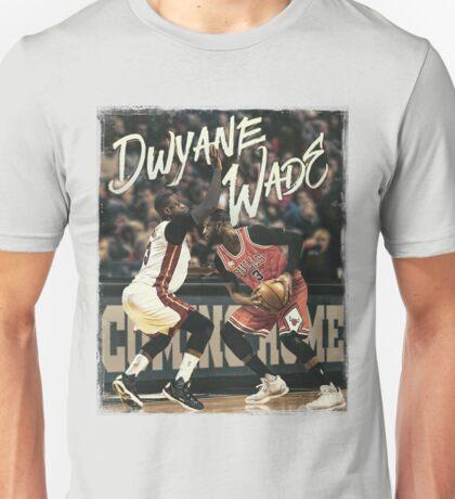 Dwyane Wade Miami to Chicago Basketball Artwork Unisex T-Shirt