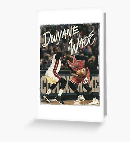Dwyane Wade Miami to Chicago Basketball Artwork Greeting Card