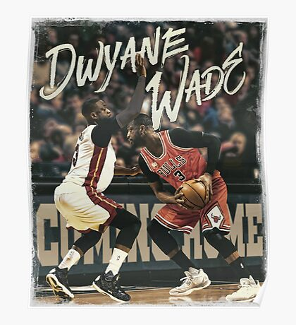 Dwyane Wade Miami to Chicago Basketball Artwork Poster