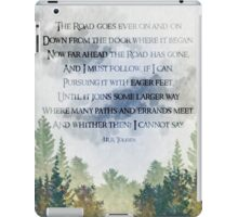 The Road Goes Ever On iPad Case/Skin