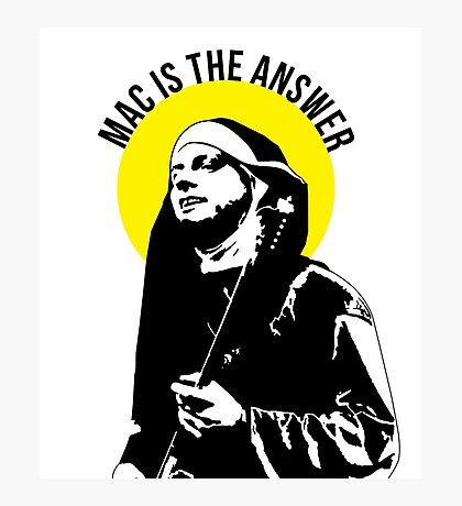 mac is the answer  Photographic Print