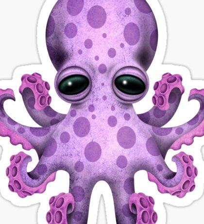 Cute Purple Baby Octopus Sticker