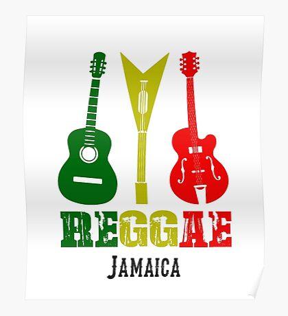 Reggae Guitar - Jamaican Music Poster