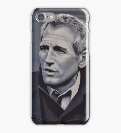 Paul Newman Painting iPhone Case/Skin