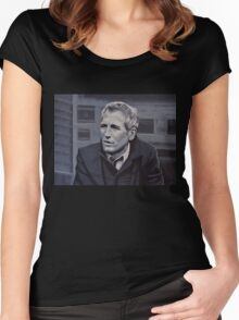 Paul Newman Painting Women's Fitted Scoop T-Shirt
