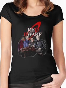 RED DWARF - SHIP AND CREW Women's Fitted Scoop T-Shirt