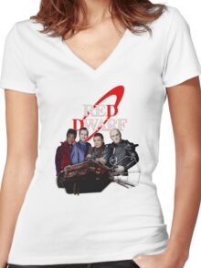 RED DWARF - SHIP AND CREW Women's Fitted V-Neck T-Shirt