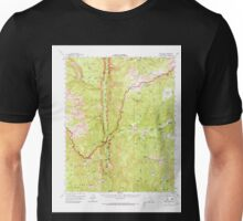 USGS TOPO Map California CA Kern Peak 297884 1956 62500 geo Unisex T-Shirt