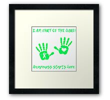 Handprints - Green Framed Print