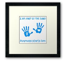 Handprints - Blue Framed Print