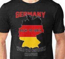 Germany: Back-to-Back World War Conference Champions Unisex T-Shirt