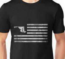 Maryland State United States Flag Vintage USA Unisex T-Shirt