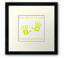 Handprints - Yellow Framed Print