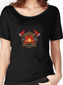 Retired Firefighter Badge - Fireman Rescue Hero  Women's Relaxed Fit T-Shirt