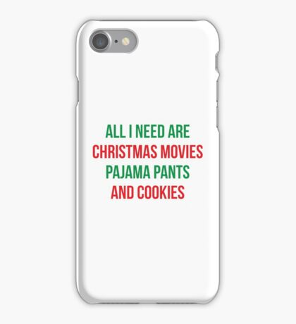 All I Need For Christmas iPhone Case/Skin